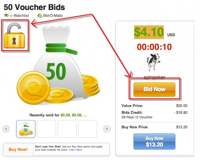 quibids locked auctions